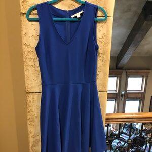 Boston Proper Blue Dress v neck